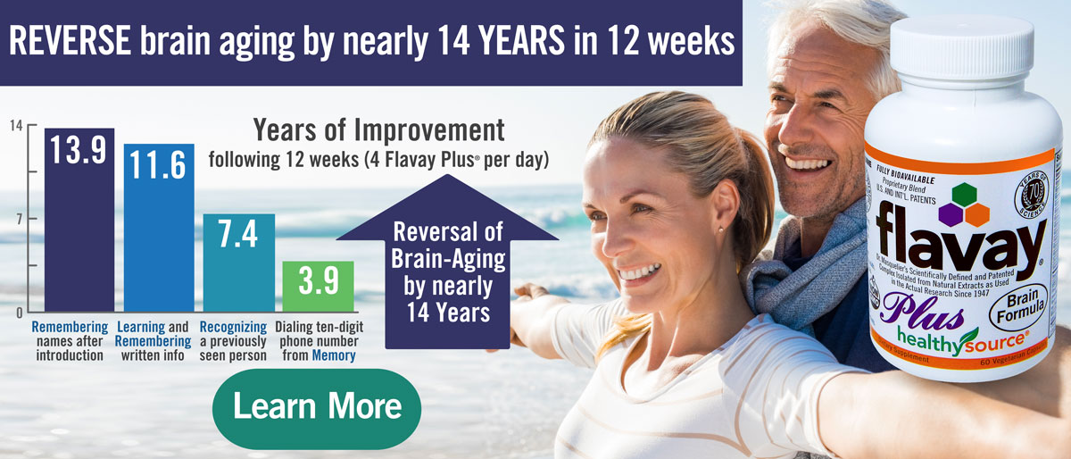 REVERSE brain aging by Nearly 14 YEARS in 12 weeks with Flavay Plus as shown in clinical trials