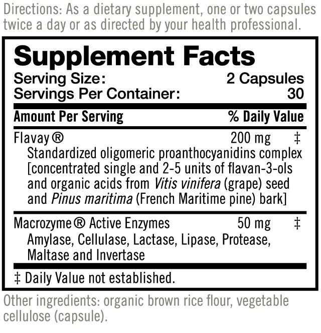 Flavay Supplement Facts